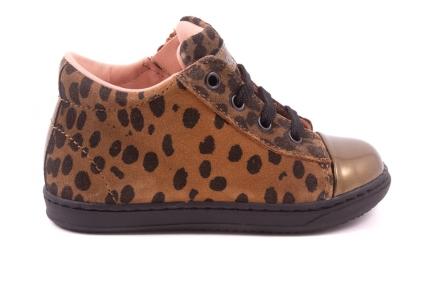 Sneaker Klein Bruin Leopard  Zwart Zool