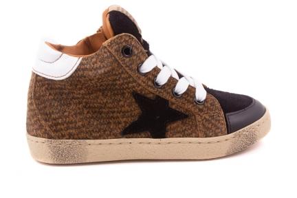 Sneaker Groot Bruin Print Zwart Ster