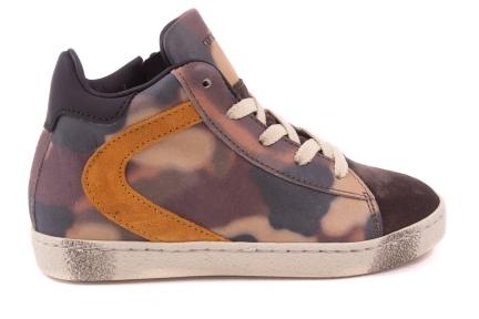 Sneaker Groot Camouflage Oker Streep Opzij