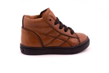 Sneaker Cognac Veter En Rits
