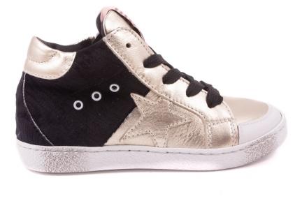 Sneaker Groot Goud Voor Zwart Achter