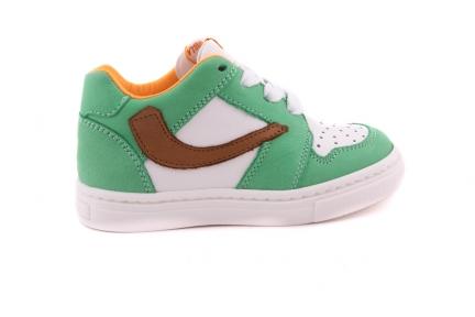 Sneaker Mint Met Bruin Accent Veter