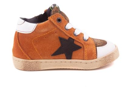 Sneaker Klein Oranje Zwart Ster Pdp Kaki Tip