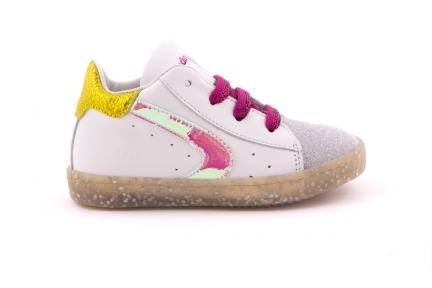 Sneaker Glitter Tip Bordeaux Veter