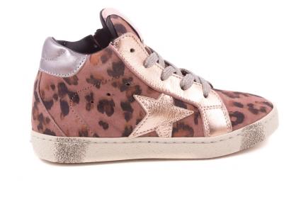 Sneaker Groot Roze Leopard Roze Metal Ster