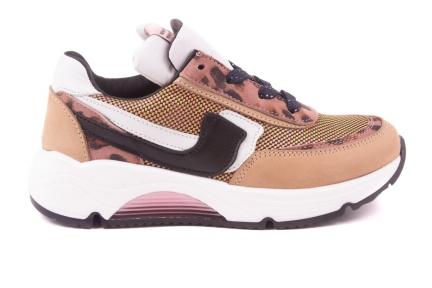 Sneaker Groot Runner Roze Leopard Metalic