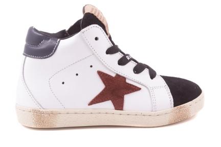 Sneaker Groot Wit  Bordeaux Ster