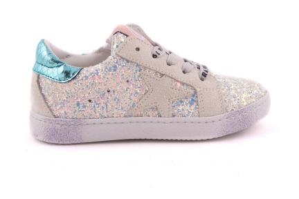 Sneaker Glitter En Witte Accenten Met Ster Cijferveter