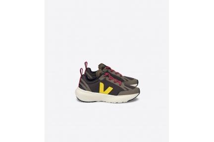 Sneaker Runner  Blauw Kaki Geel Accent