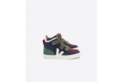 Sneaker Hoog Blauw Groen Bordeaux Nubuck