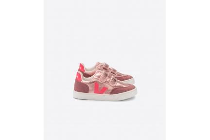 Sneaker Laag Roze Metallic Aubergine Nubuck