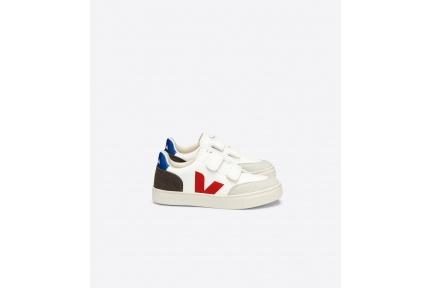 Sneaker Laag Wit Rood Accent