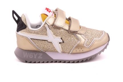 Sneaker Goud Metallic Glitter Velcro