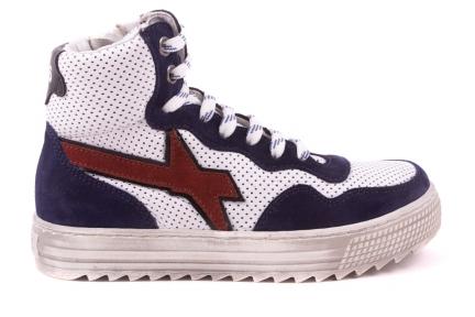 Sneaker Hoog Wit/blauw