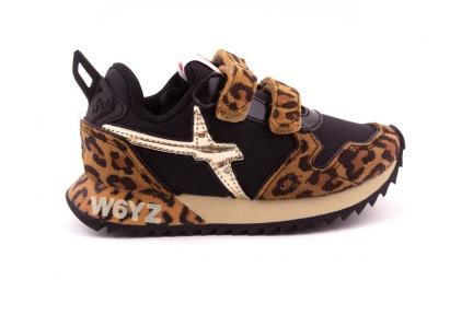 Sneaker Velcro Zwart Leopard