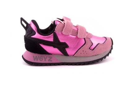 Sneaker Velcro Roze Metallic