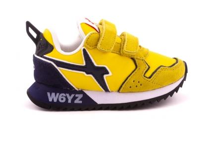 Sneaker geel En Blauw Accent Velcro