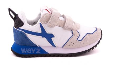 Sneaker Wit Met Blauw Accent Velcro