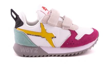 Sneaker Geel En Mint En Roze Velcro