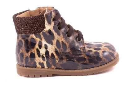 Veterschoen Bottine Bruin Leopard Lak