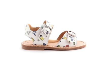 Sandaal 2 gespen wit vespa