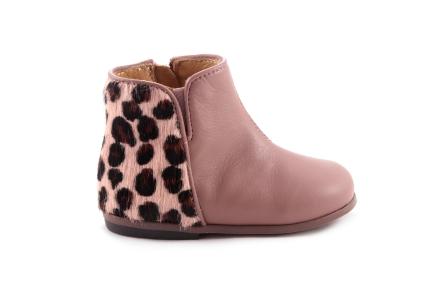 Laars Leopard Achteraan Roze Leder