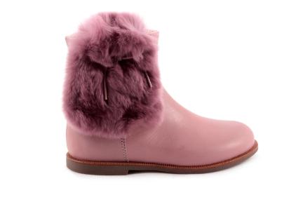 Laars Roze Leder Met Pels Opzij Halfhoog