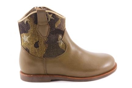 Laars Kaki Leder Cowboy Camouflage