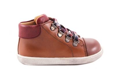Sneaker Bruin Rubber Tip Bottine Rood Accenten