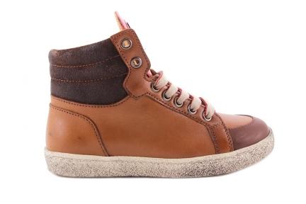 Sneaker Groot cognac Rubber Tipje Blink Ster Blauw Rood
