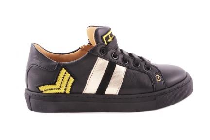 Sneaker Zwart 2 Strepen Goud