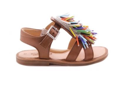 Sandaal Open Hiel Franjes Multicolor