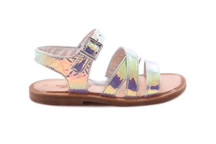Sandaal Bandjes Vooraan Spiegel Multicolor