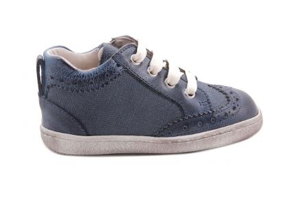 Sneaker Blauw Met Brogues