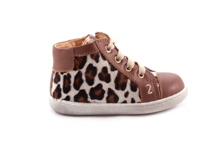 Sneaker Cognac Leder Leopard
