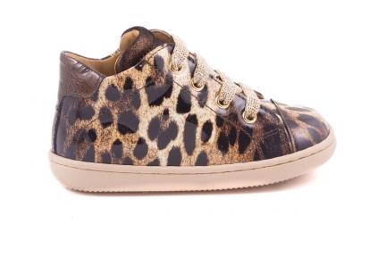 Sneaker Tip Leopard Leopard Bruin Lak
