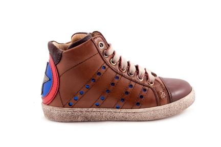 Sneaker Groot Bruin Ster Blauwroodwit