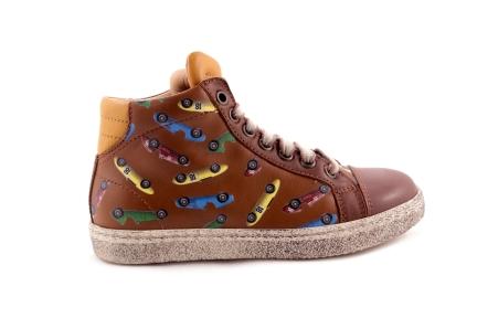 Sneaker Race Cognac Groot
