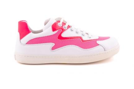 Sneaker Wit Met roze Fluo Details Bliksem