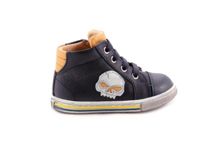 Sneaker Blauw Met Oker Doodskop