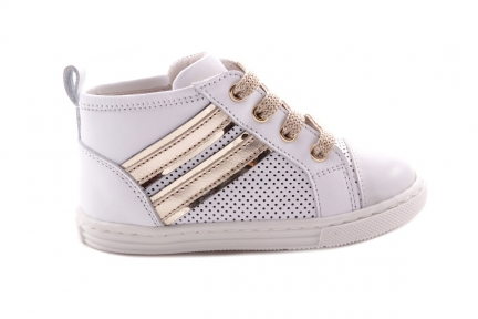Sneaker Klein Wit Gouden Strepen