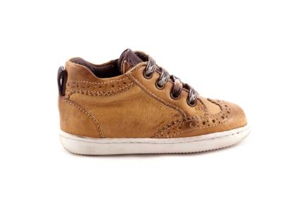 Sneaker Oker En Cognac Waxed
