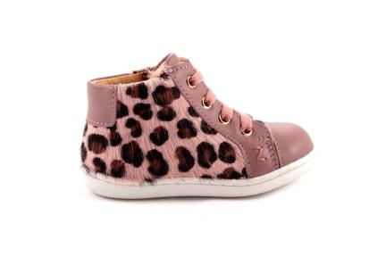 Sneaker Roze Leder Leopard