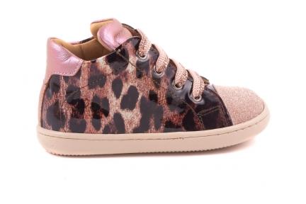 Sneaker Glitter Tip Leopard Roze Lak