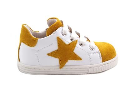 Sneaker Geel Daim En Wit Ster Geel