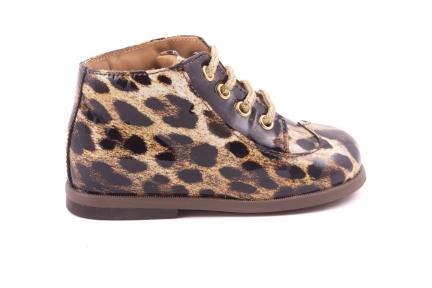 Veterschoen Leopard Motief Lak Bruin Lak