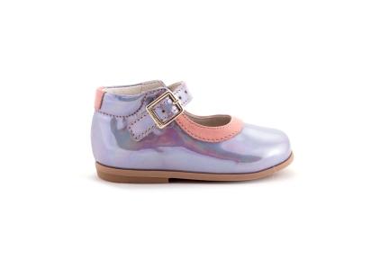 Schoen gesp spiegel met rand in roze