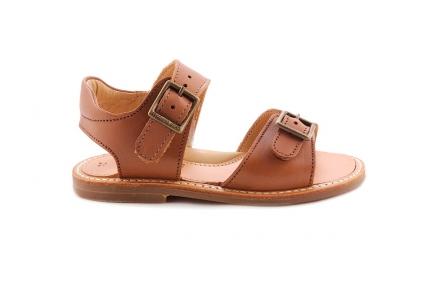 Sandaal 2 Gespen Cognac