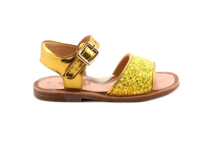 Sandaal Geel Glitter Open Hiel