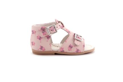 Sandaal Roze Uiltjes Roos